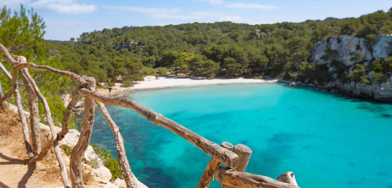 Menorca beach scene