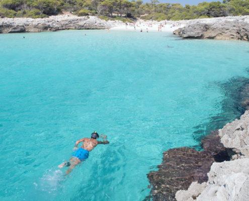 Snorkelling in Menorca